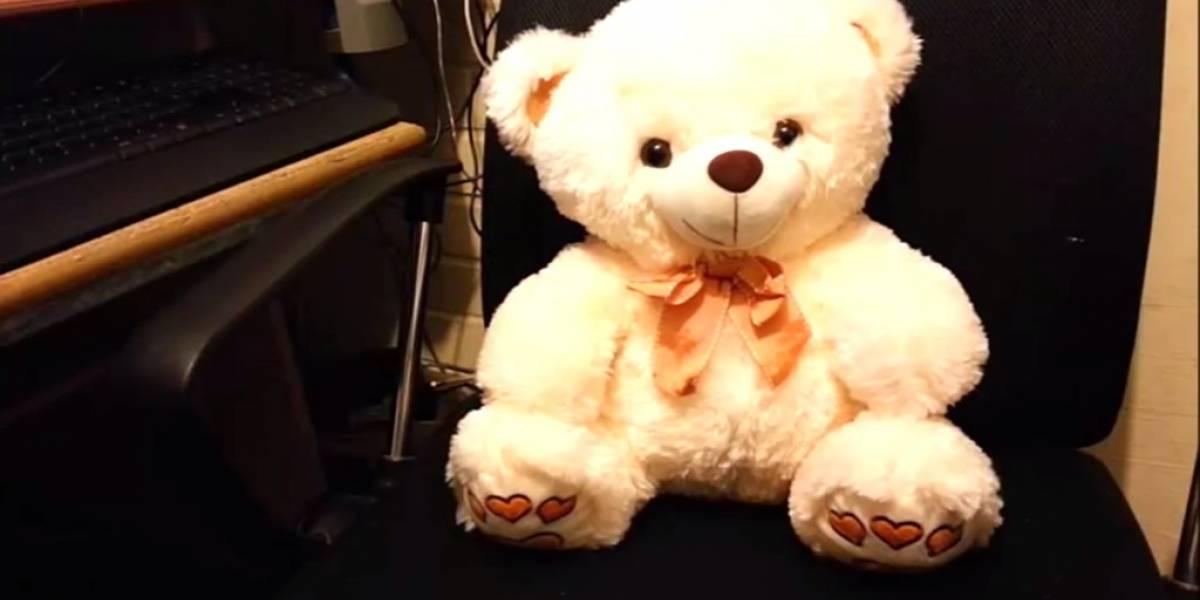 Conoce el oso de peluche robot controlado con Kinect