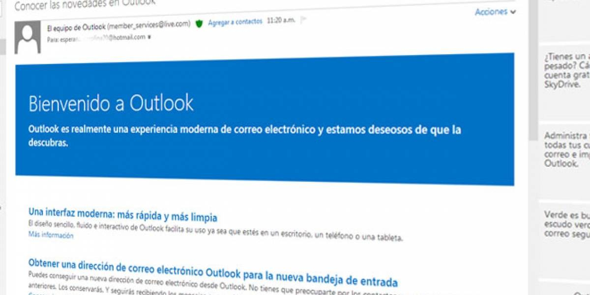 Arranca la migración de Hotmail a Outlook