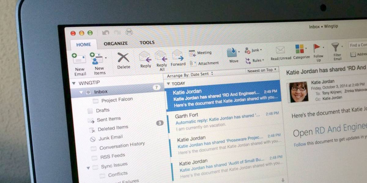 Microsoft lanza Outlook para Mac