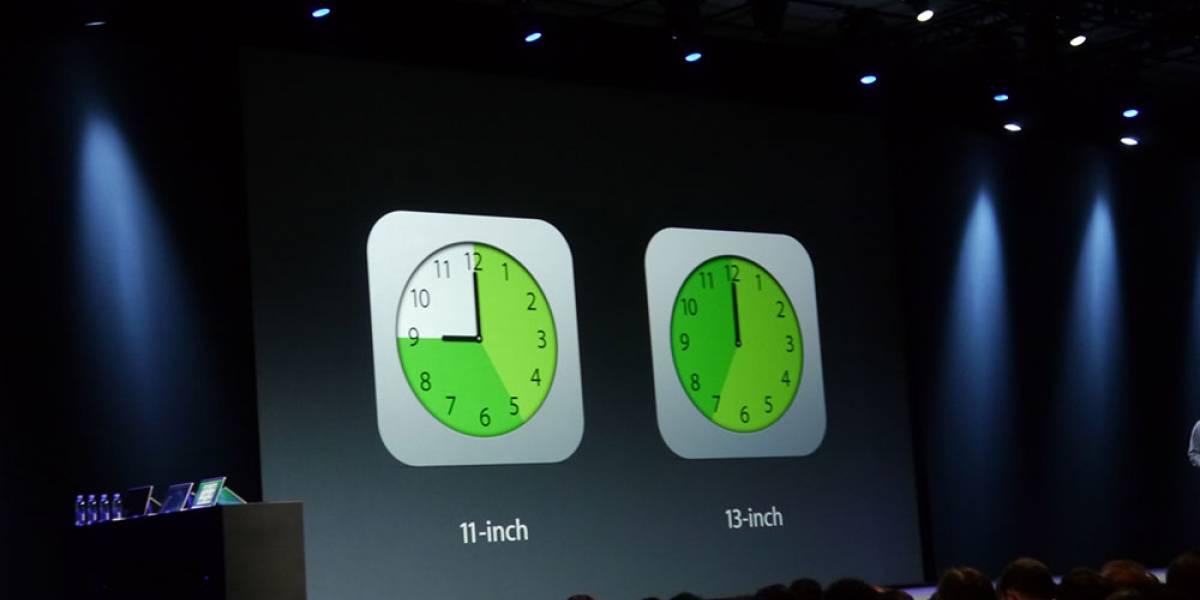 Nuevo MacBook Air promete hasta 12 horas de batería #WWDC13