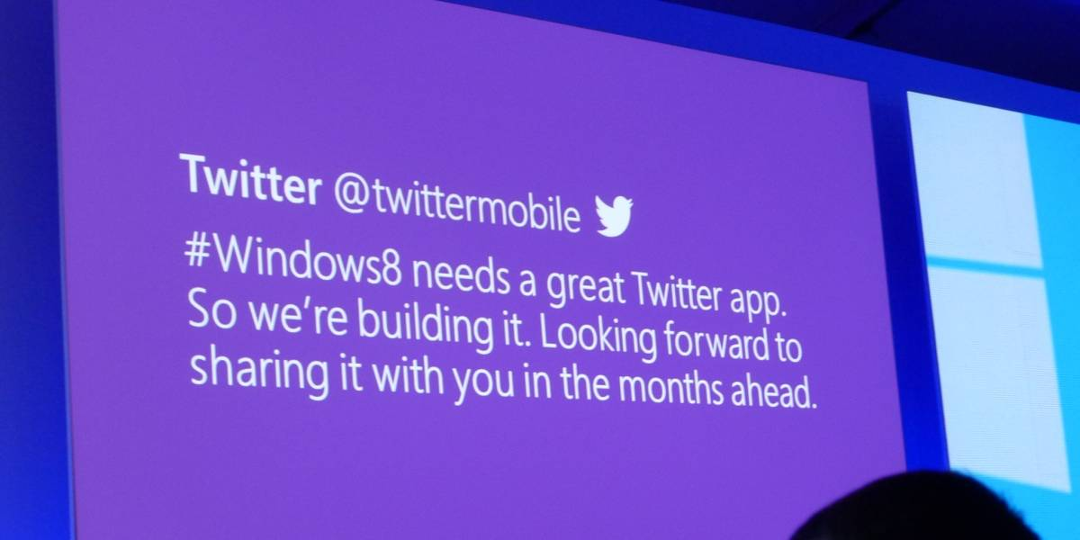 Twitter anuncia aplicación para Windows 8