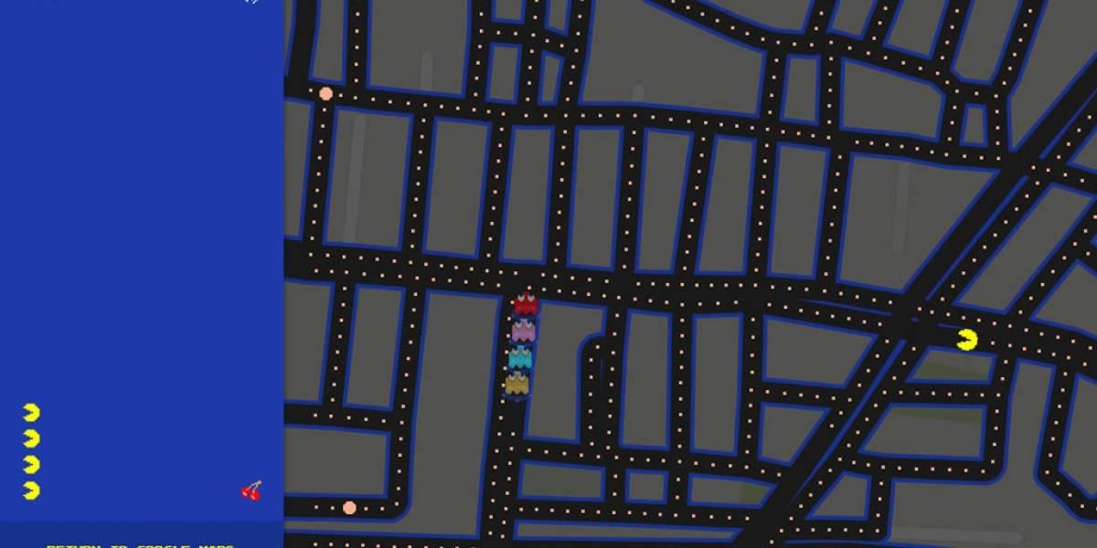 Puedes jugar Pac-Man dentro de Google Maps