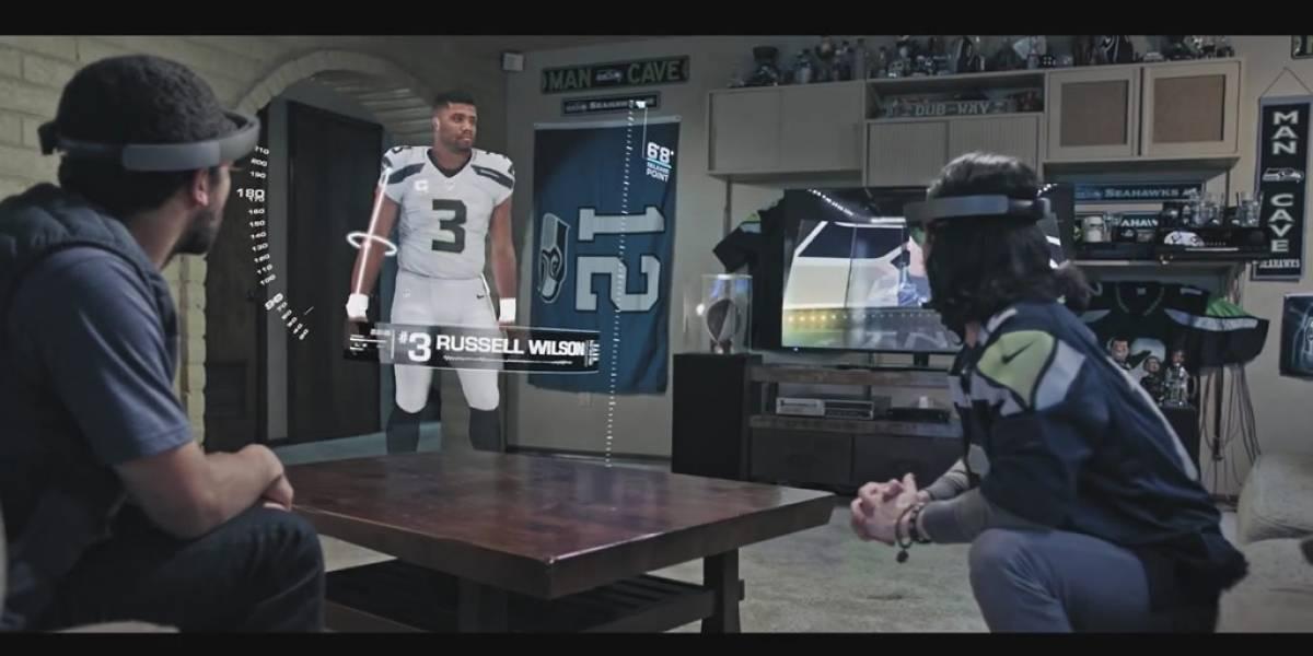 Así de impresionante se verá la NFL gracias a HoloLens