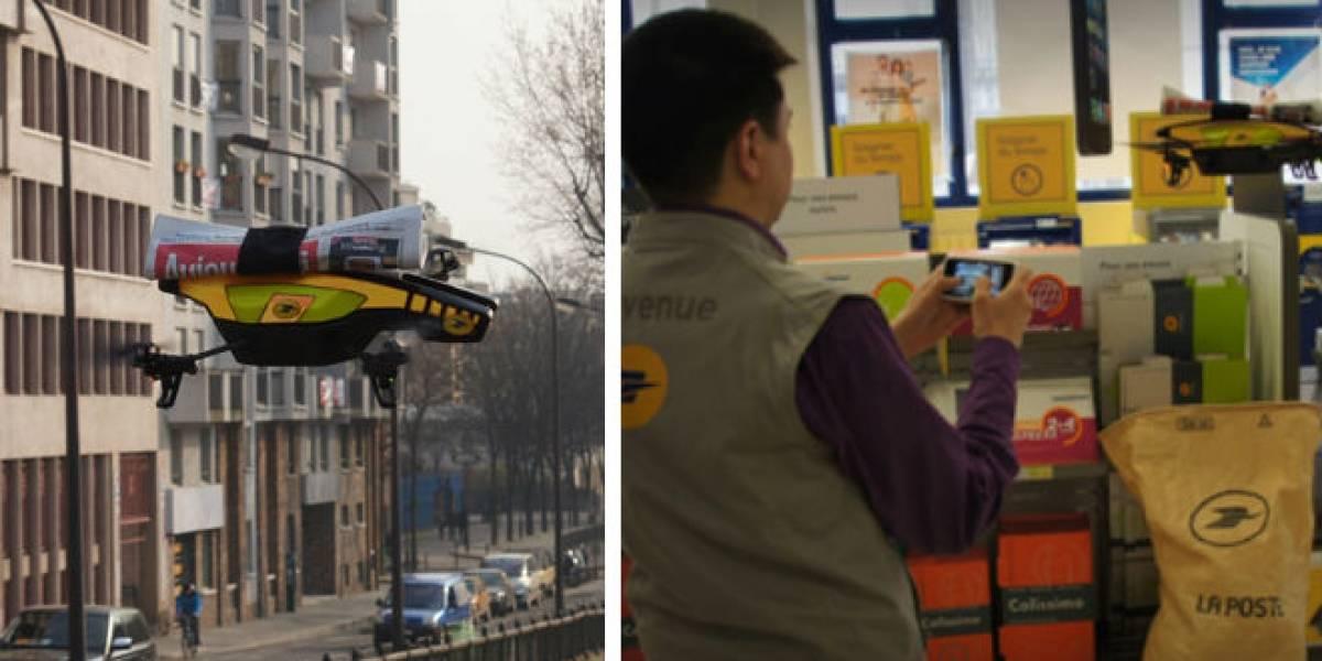 Correos de Francia y Parrot desarrollan robot repartidor de periódicos