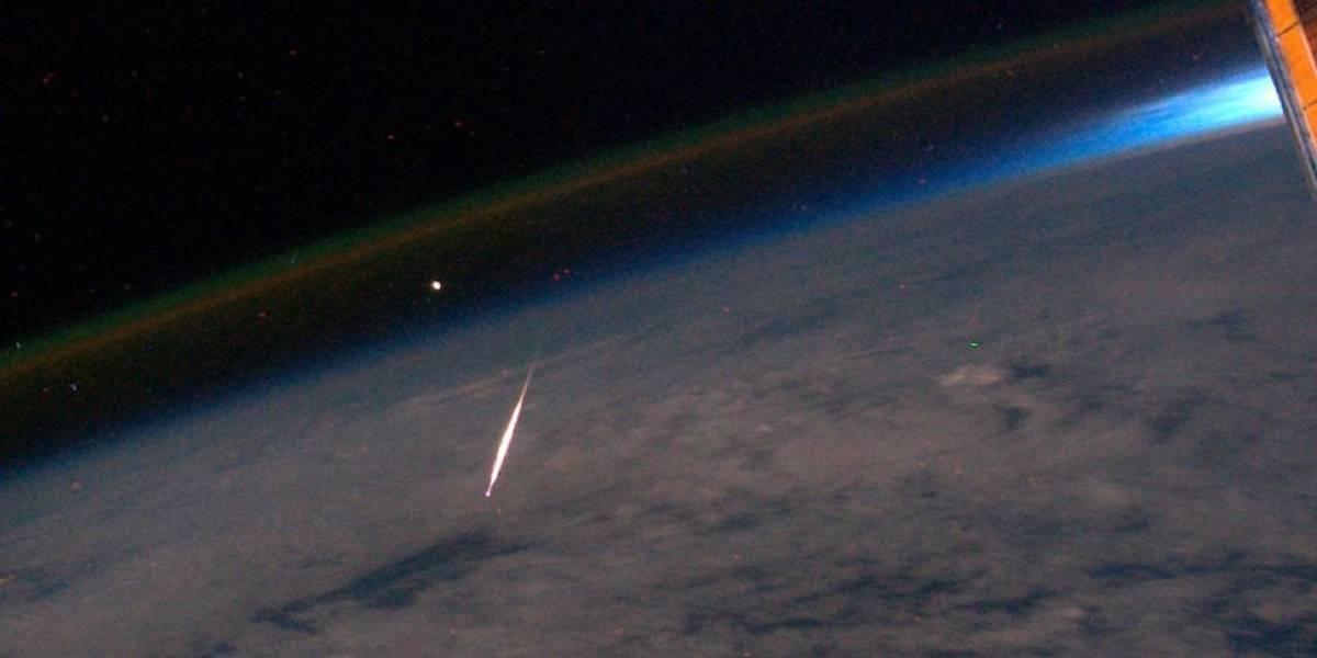 Imperdible: Imagen de una estrella fugaz desde la ISS