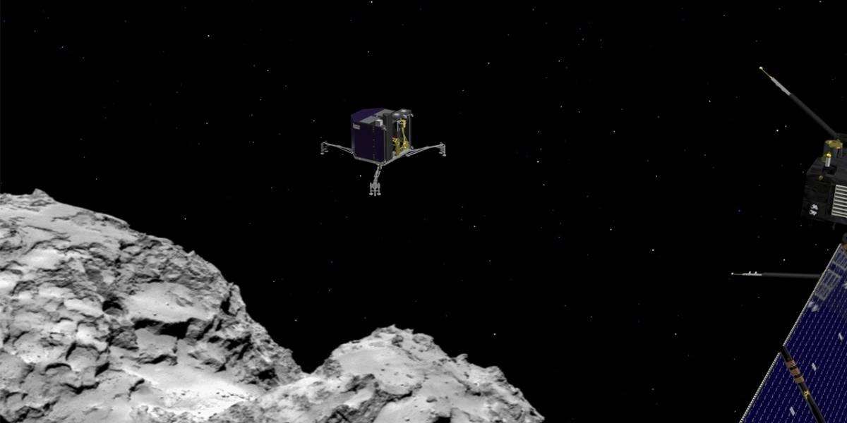 Philae está en problemas: aterrizó en las sombras del cometa y no se puede recargar