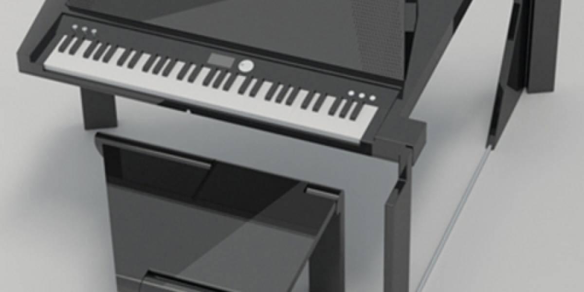 Un piano digital plegable para la comodidad de cualquier hogar