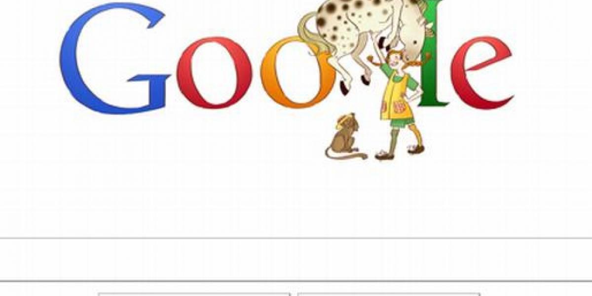 España: Pippi Calzaslargas cumple 65 años y conquista el logo de Google