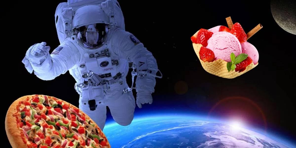 La NASA manda pizza y helado al espacio