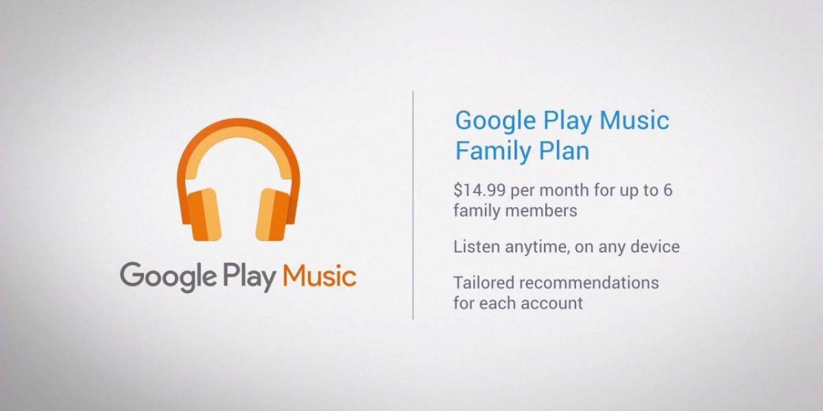 Google Play Music anuncia su nuevo plan familiar