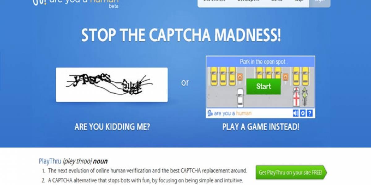 PlayThru promete reemplazar al aburrido captcha de texto