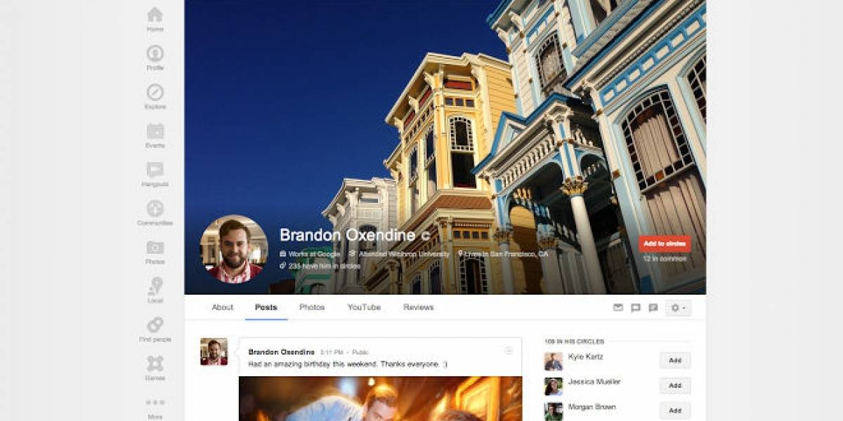 Google+ actualiza algunas características de los perfiles de usuario