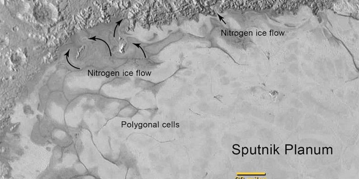 New Horizons descubre desplazamiento de hielos en la superficie de Plutón