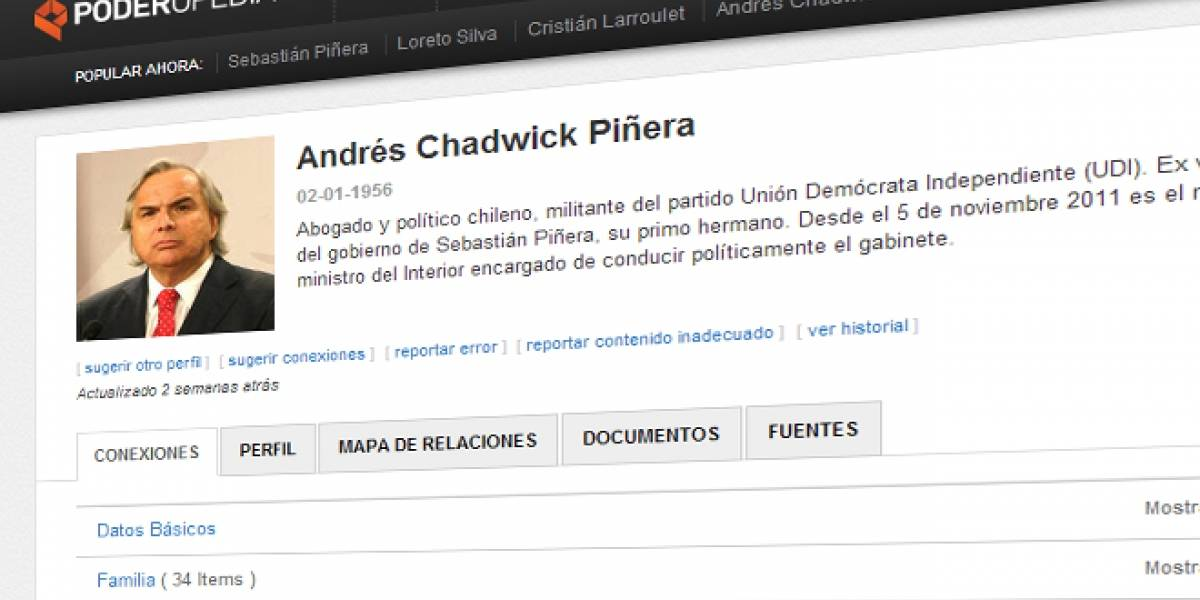 Chile: Versión beta de Poderopedia ya está disponible públicamente