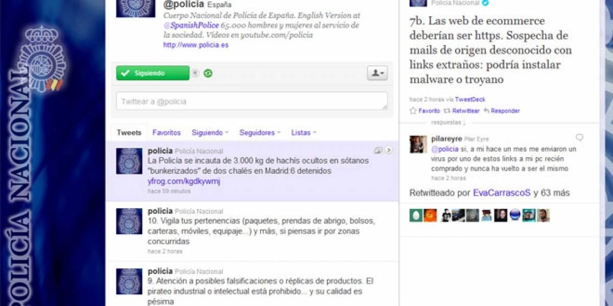 El tweet-decálogo de la Policía Nacional de España para pasar una Navidad segura