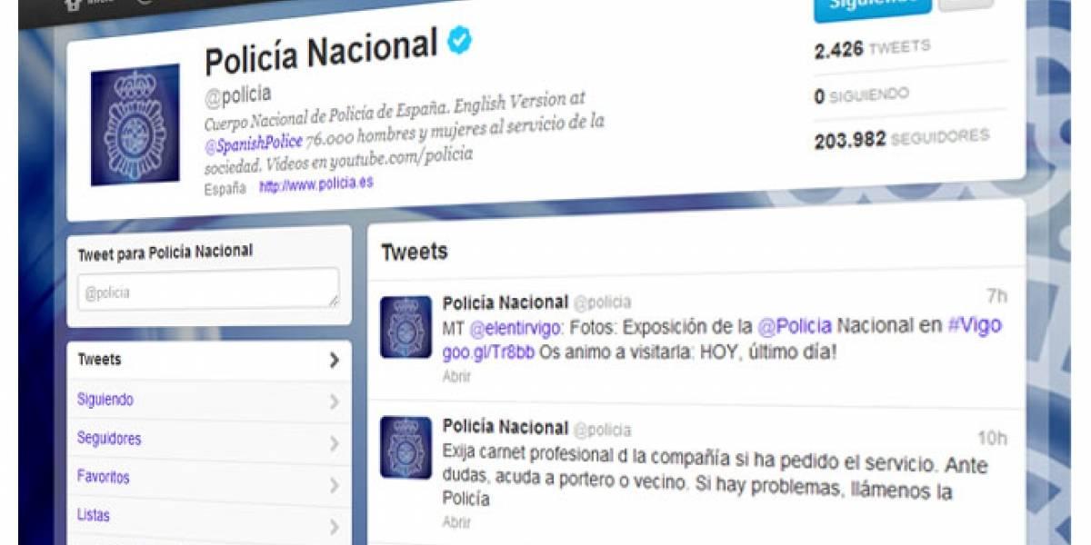 La @policia española arrasa en Twitter y ficha a artistas para educar en seguridad 2.0