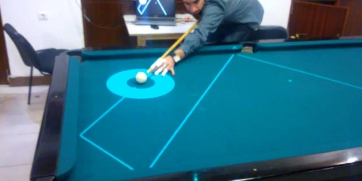 Con este pool láser ya nadie podrá ganarte (aunque quizás se termine la diversión)
