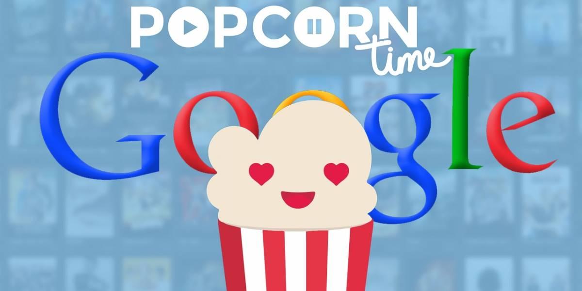 Popcorn Time ya es el primer resultado al buscar la palabra 'popcorn' en Google