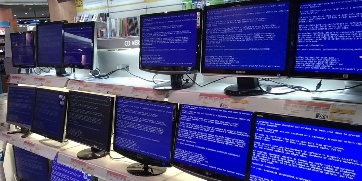 """Alguien se topó con una """"pantalla azul de la muerte"""" en Ubuntu"""