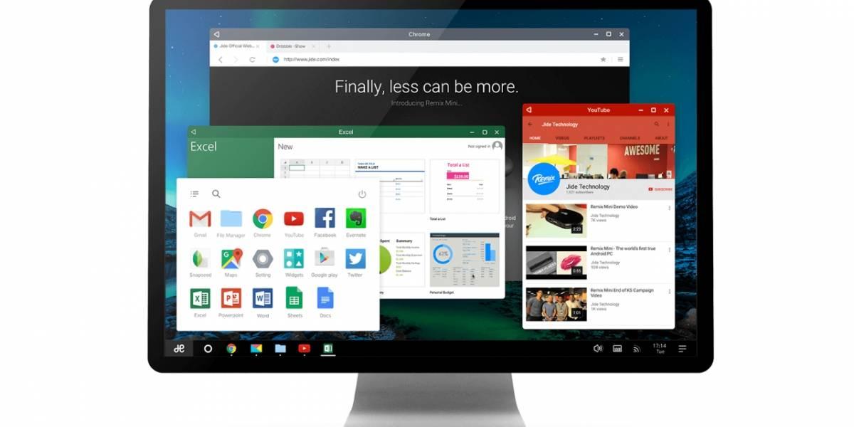 Remix OS ofrece soporte para hardware antiguo y sistemas x86