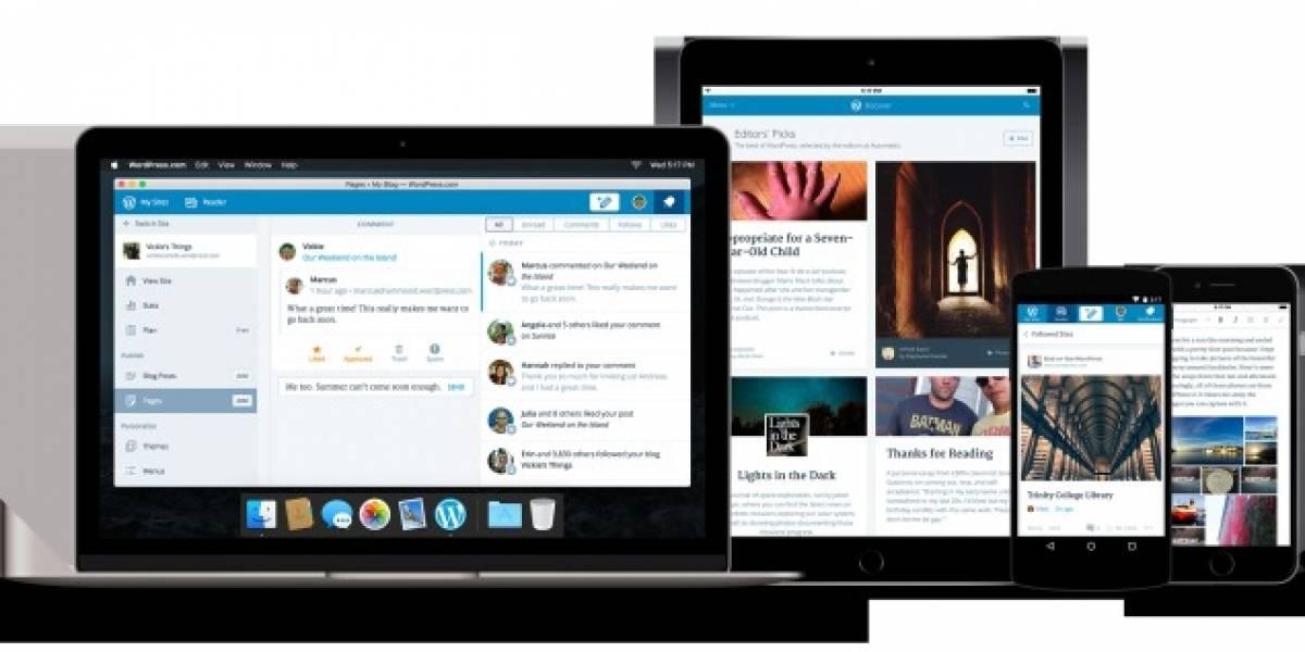 WordPress.com se actualiza con nuevo diseño, funciones y app para Mac
