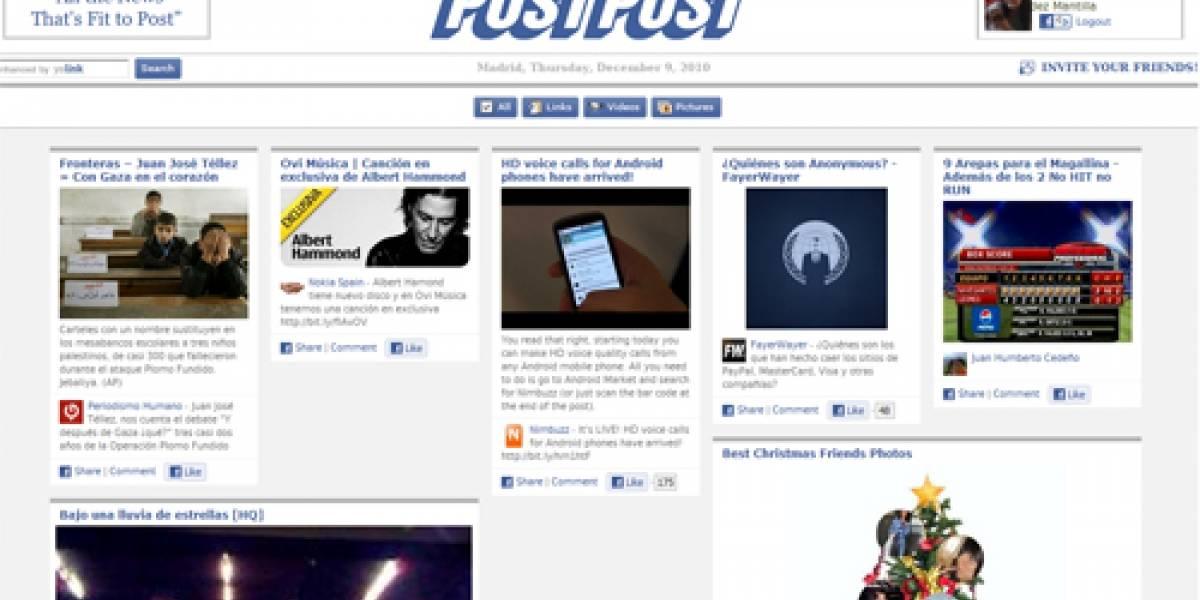 PostPost: un periódico que se alimenta de facebook