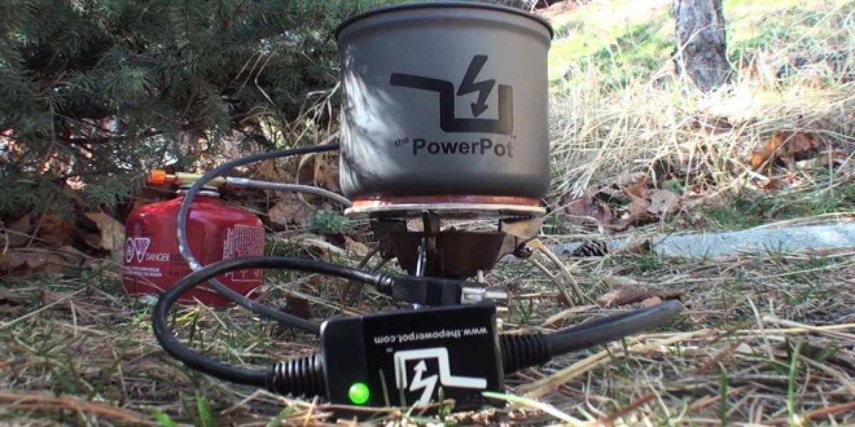 PowerPot, el utensilio de cocina que también recarga nuestros gadgets