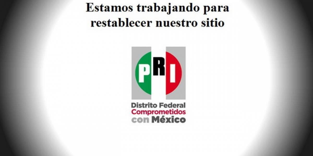 México: Hacker ataca página del PRI