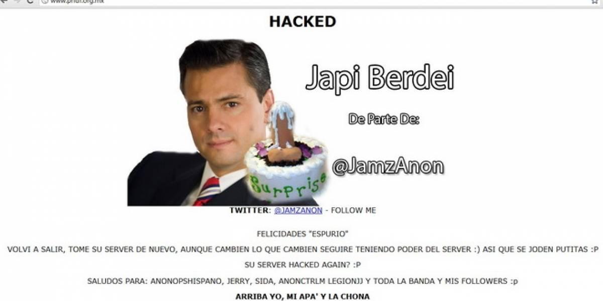 México: Vuelven a hackear página del PRI en el DF
