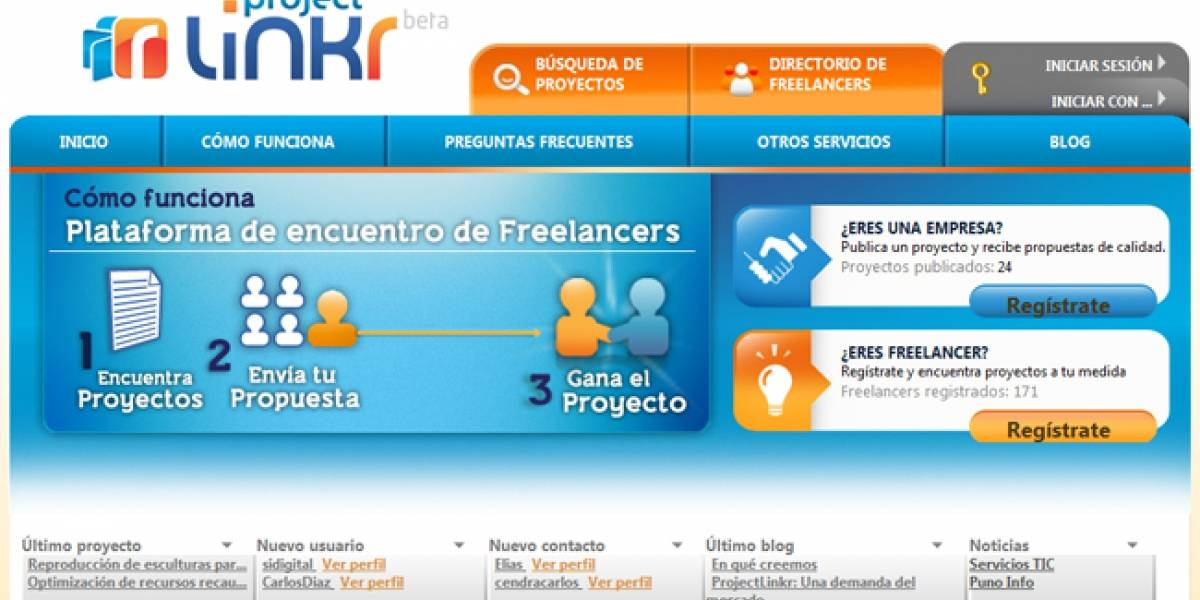 Llega ProjectLinkr.com: Una plataforma española de empleo para autónomos