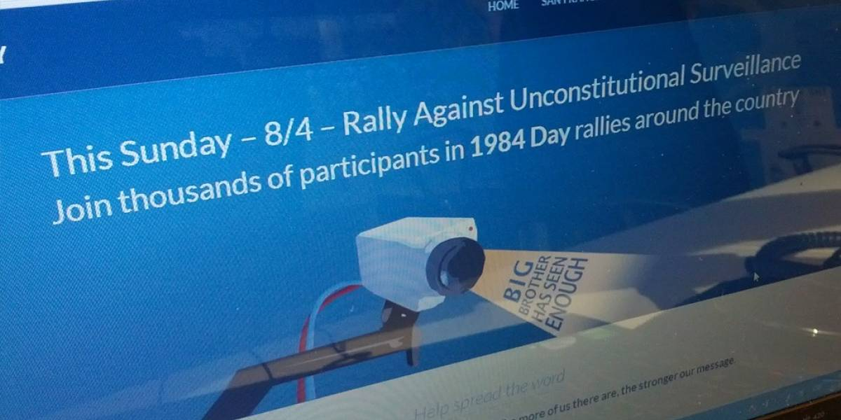 """Preparan protestas contra la NSA el """"Día de 1984"""" este domingo"""