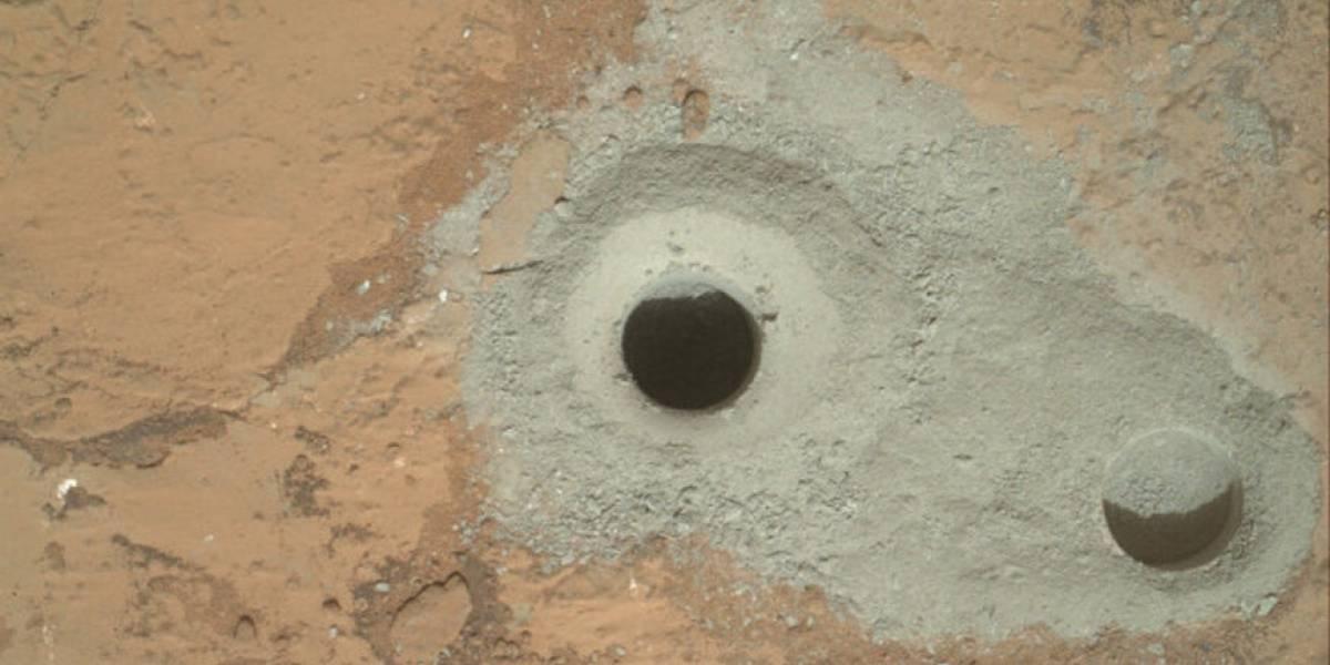 Curiosity analiza material recolectado en perforación de la superficie de Marte