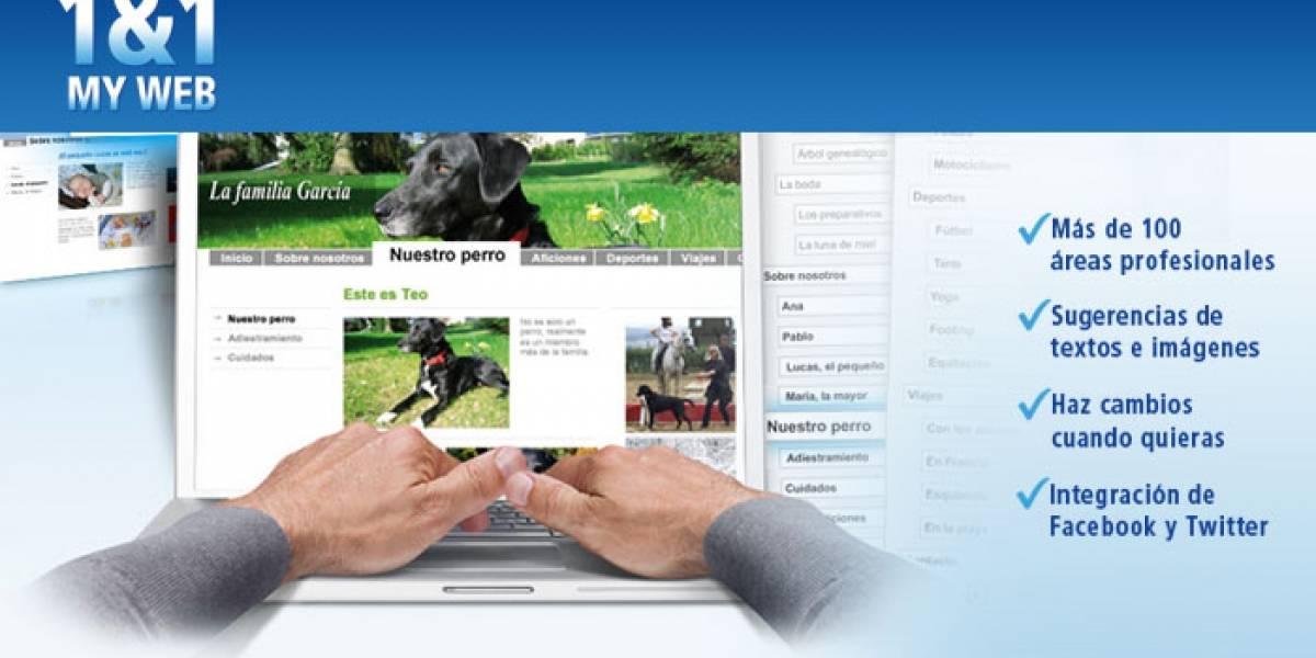 Crea tu propia página web con 1&1 MyWeb