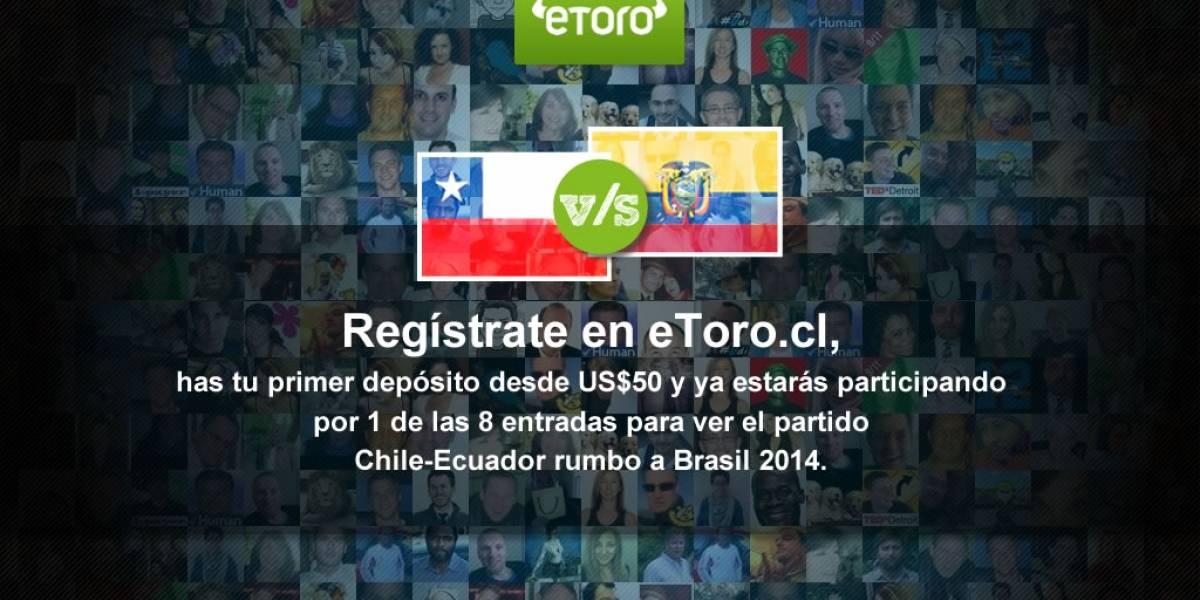 eToro, la red social de inversiones más grande del mundo, te invita al partido Chile vs Ecuador