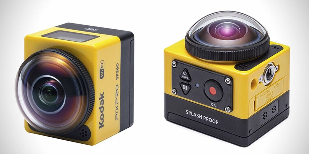 Kodak compite contra GoPro con una cámara que graba en 360º