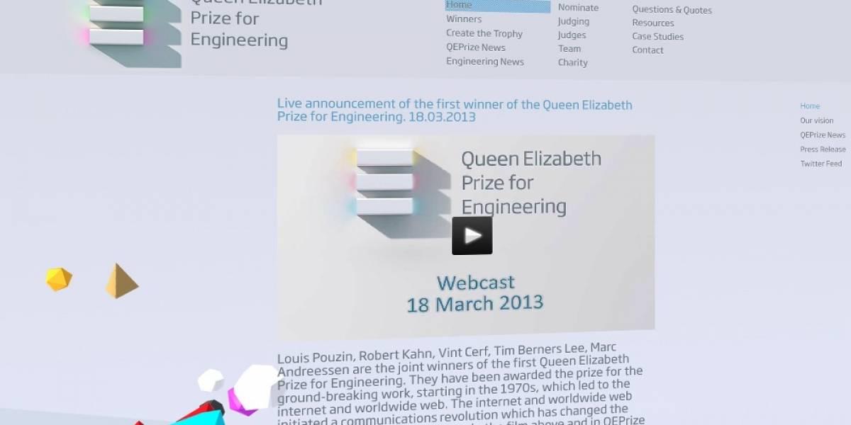 El primer Premio de Ingeniería Reina Isabel se entregará a los pioneros de la Internet
