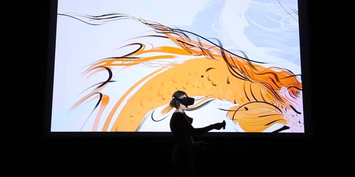 Esta herramienta de Oculus permite crear obras en lienzos 3D