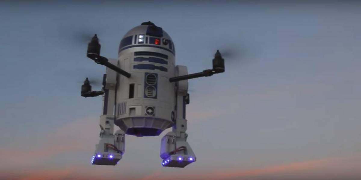 Un usuario diseñó y fabricó un dron de R2-D2