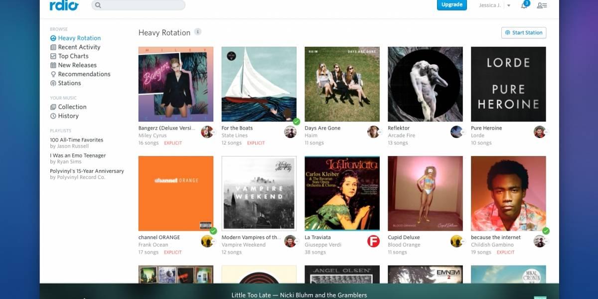 Rdio ahora también ofrece streaming ilimitado de música para cuentas gratuitas