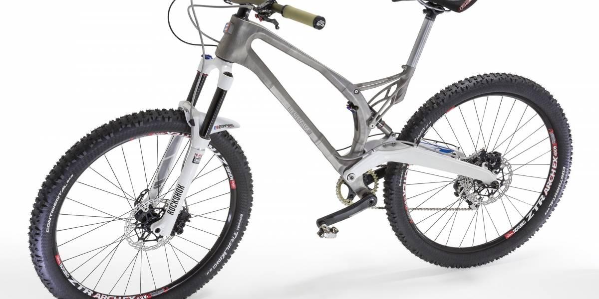 Imprimen por primera vez un marco de bicicleta en 3D con titanio