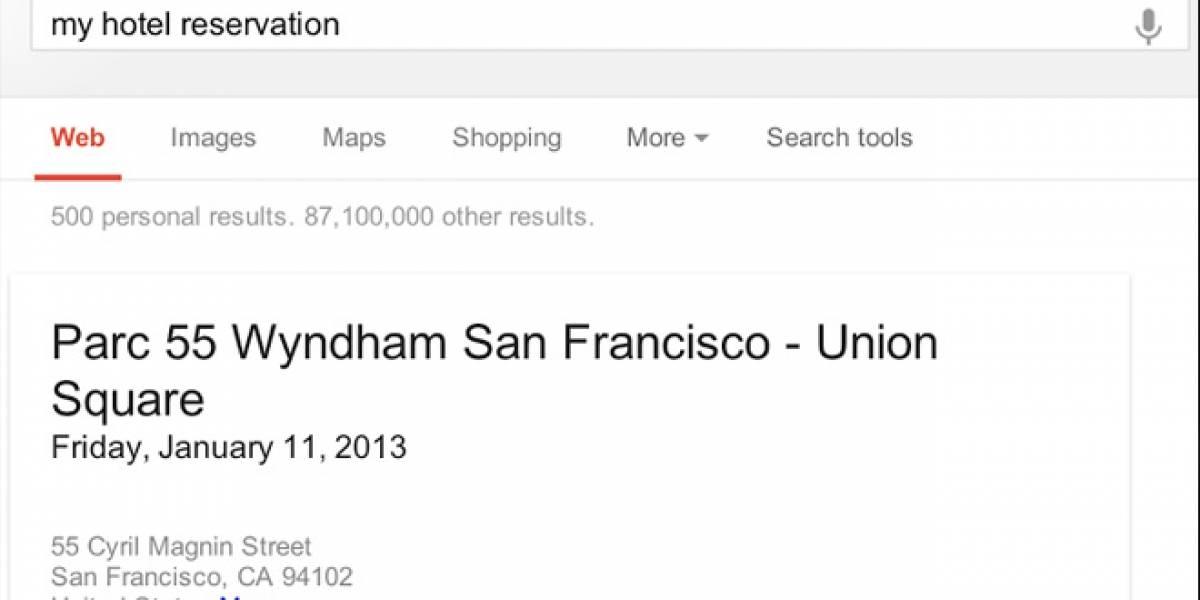Google prueba que recibos y reservaciones que estén en Gmail aparezcan en tus resultados de búsqueda