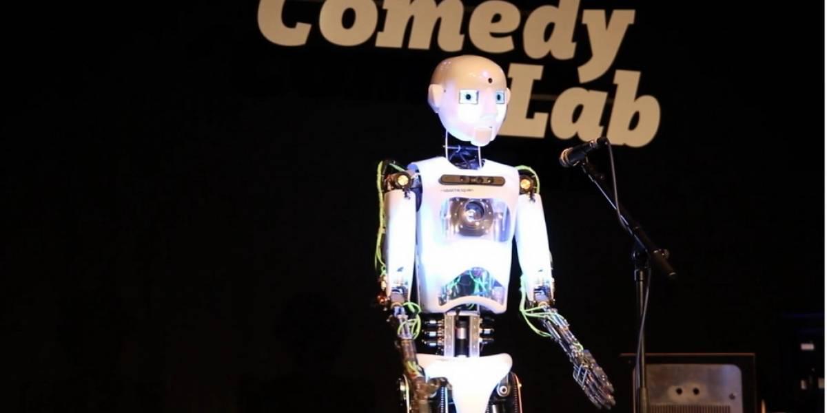 Robot comediante es capaz de reaccionar a su audiencia