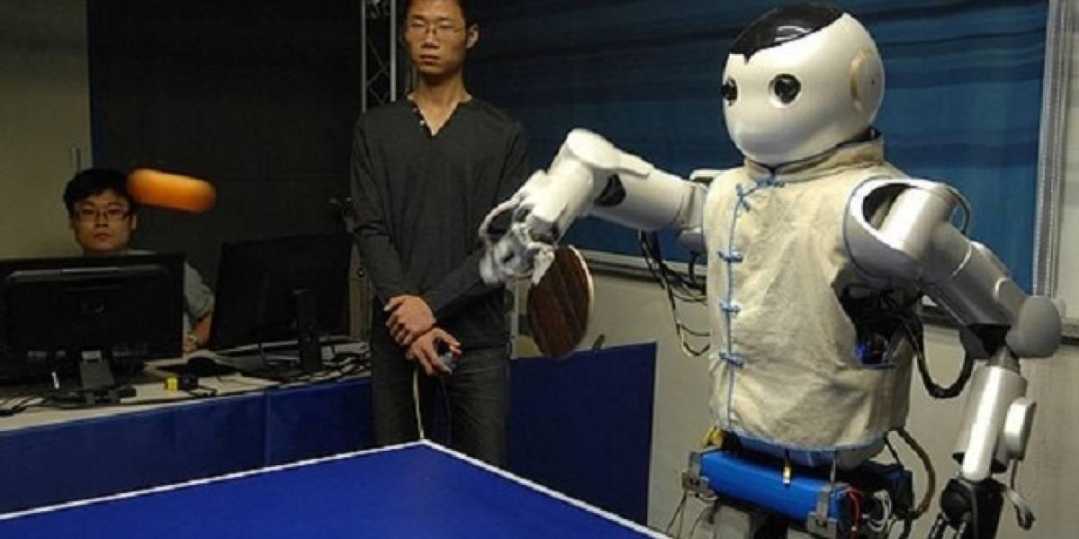 El fin se acerca: Robots chinos juegan ping pong y prometen ganarnos