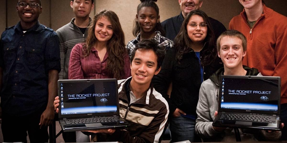 Estudiantes lanzan un cohete con un Sony Vaio