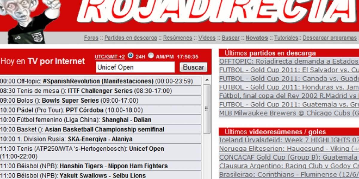 RojaDirecta demanda al gobierno de EEUU por cerrar sus webs sin juicio previo