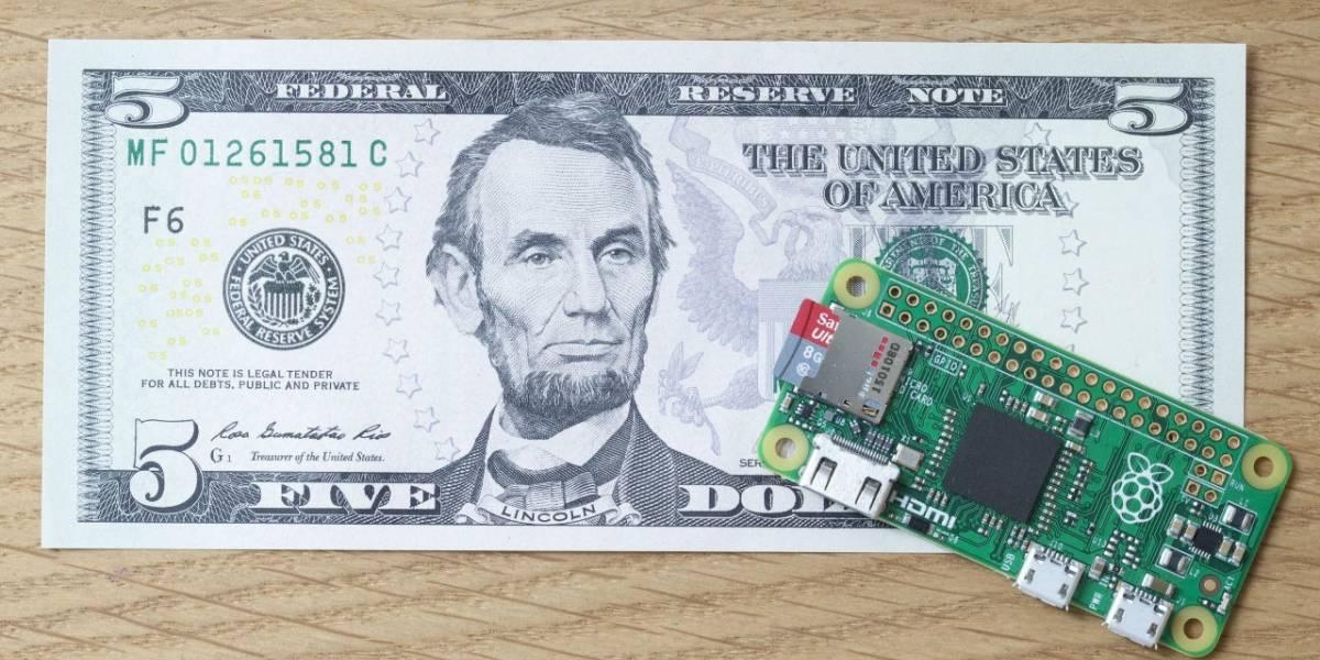 Raspberry Pi Zero es un computador que sólo cuesta USD $5