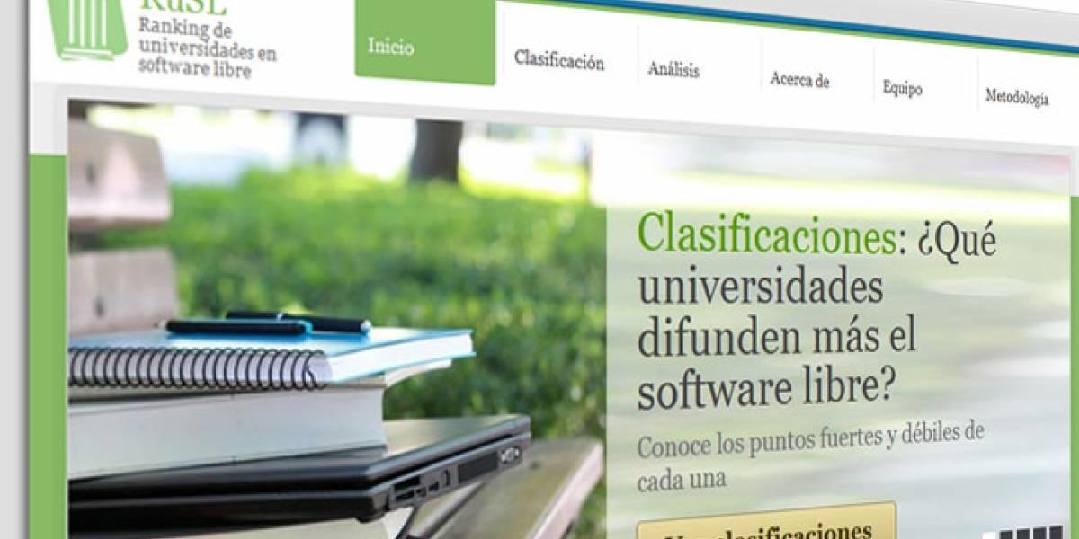 RuSL: El ranking de las universidades españolas en Software Libre