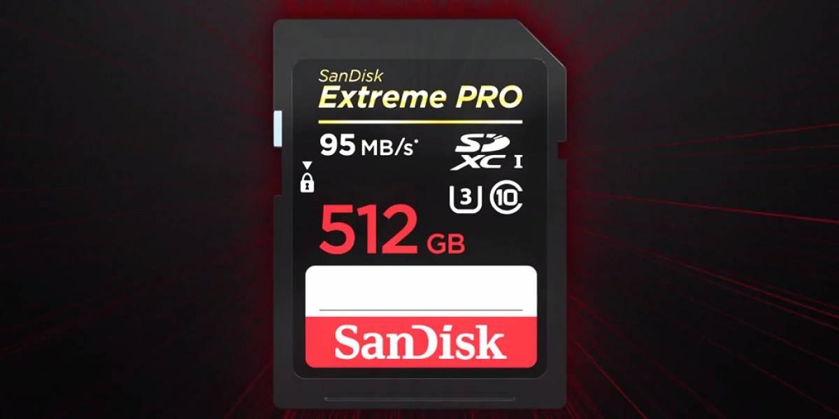 SanDisk anuncia su tarjeta SD con 512 GB