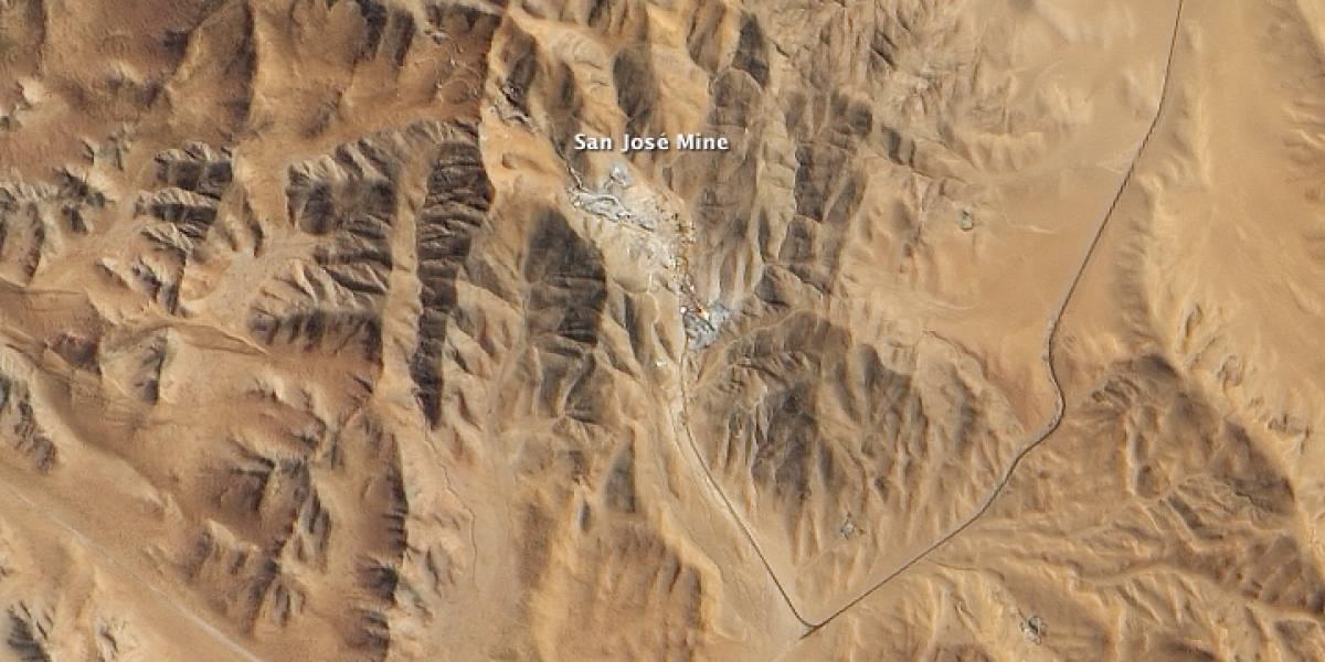 La mina San José vista desde el espacio