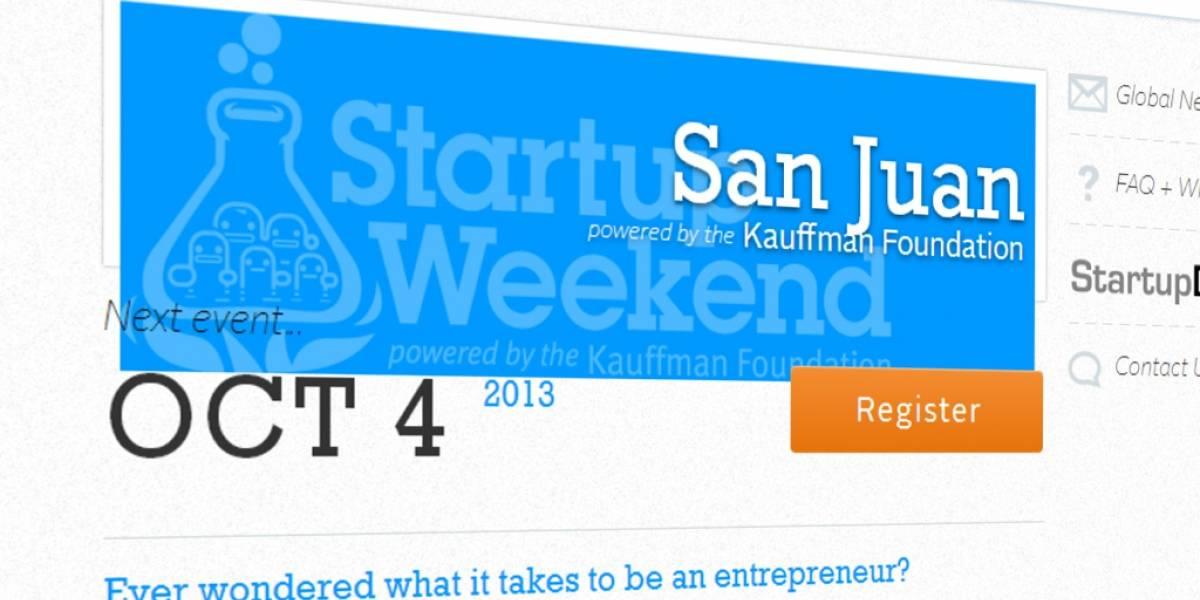 San Juan Startup Weekend este fin de semana en Puerto Rico
